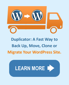 wordpress migration with Duplicator